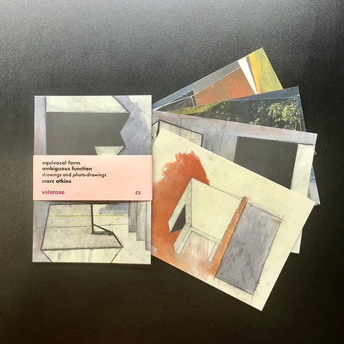 marc atkins, equivocal form ambiguous function (set of four postcards)