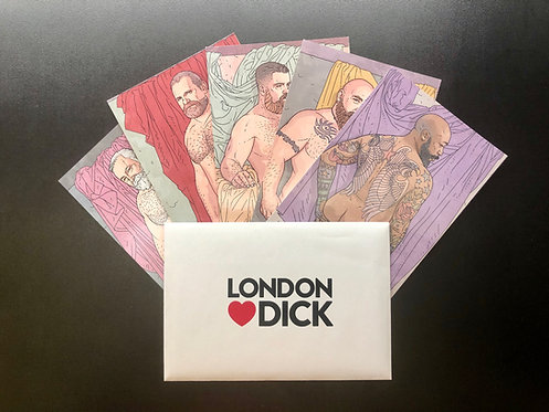 loved, london ❤️ dick (set of five postcards in special exhibition envelope)