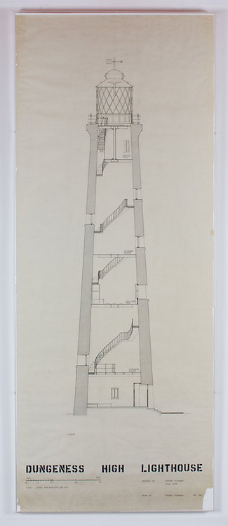 rosenberg & smith, dungeness high lighthouse: section (may 1953)