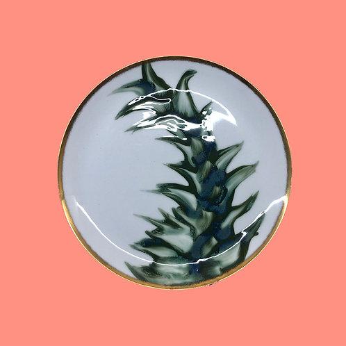 reiko kaneko, botanical glaze dinner plate (2020)