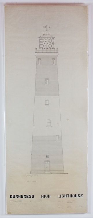 rosenberg & smith, dungeness high lighthouse: north-east elevation (may 1953)