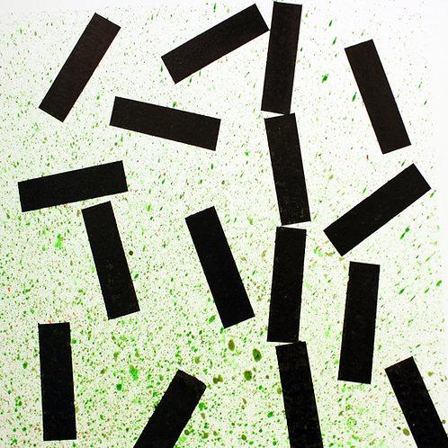 david parsons, falling columns green (2018)