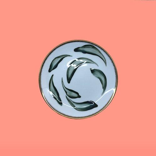 reiko kaneko, botanical glaze side plate (2020)