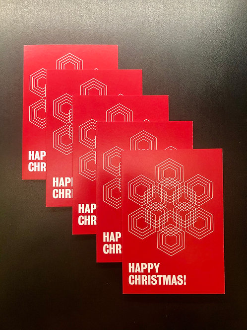melissa price, happy xmas (red) (set of five identical cards with envelopes)