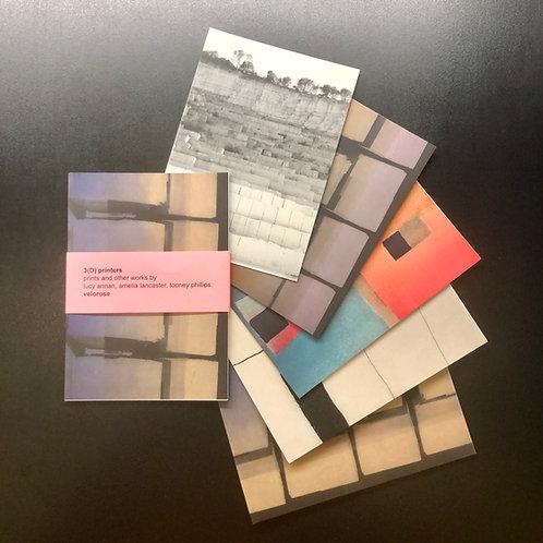 tooney phillips, 3(D) printers (set of five postcards)