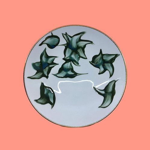 reiko kaneko, botanical glaze large footed bowl (2020)