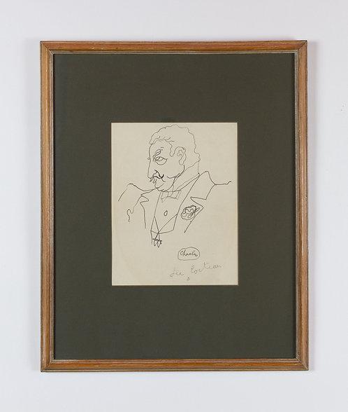 jean cocteau, (baron de) charlus (1920s), price on application