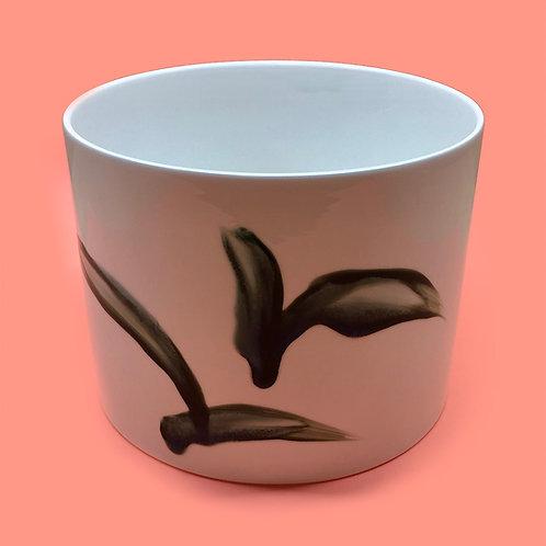 reiko kaneko, botanical glaze xl wide white vase (2020)