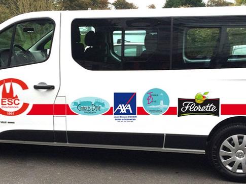Sur bus ES Coutances, votre logo entreprise partout en Basse-Normandie !