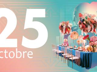 Enfin la nouvelle date du Wedding Table Contest édition 2 - le 25 Octobre 2021.