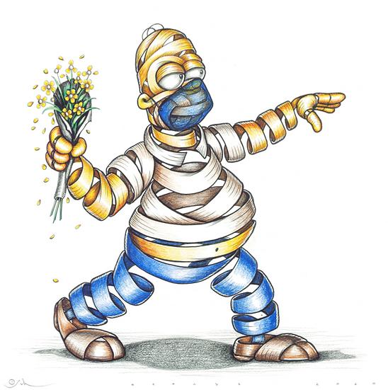 Otto Schade - Homer Flower Thrower