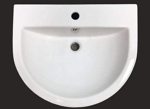 Basin Sink Semi recessed Bathroom Countertop Vanity ceramic Corner 600 Bowl KL