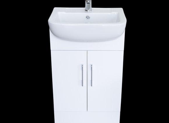 Vanity Unit Cabinet Bathroom Basin Sink Cloakroom Floorstanding Tap Waste