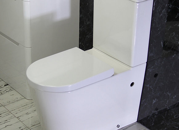 Toilet WC Close Coupled Compact Cloakroom Soft Close Seat