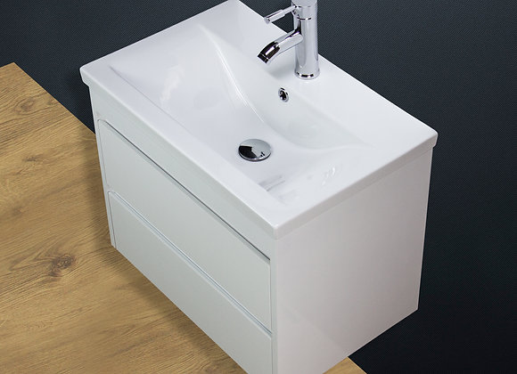 Vanity Unit Cabinet Basin Sink Wall Hung Mounted Ceramic Tap Waste