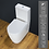 Thumbnail: Toilet WC Close Coupled Cloakroom Comfort Height Soft Close Toilet Seat
