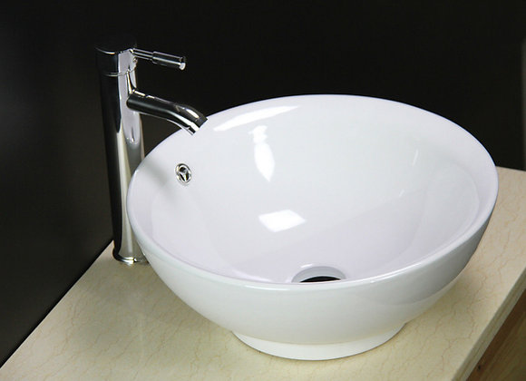 Basin Sink Vanity Bathroom Bowl Counter top Tap Waste
