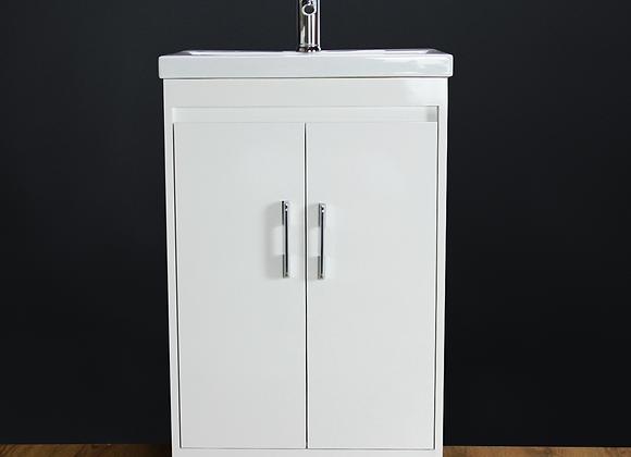Vanity Unit Cabinet Basin Sink Bathroom Square Floor standing Tap Waste