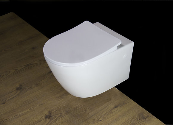 Toilet Wall Hung mounted Soft Close Seat Cover