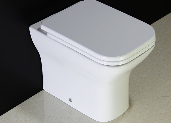 Toilet WC Bathroom Back To Wall Compact Heavy Duty Soft Seat Cover