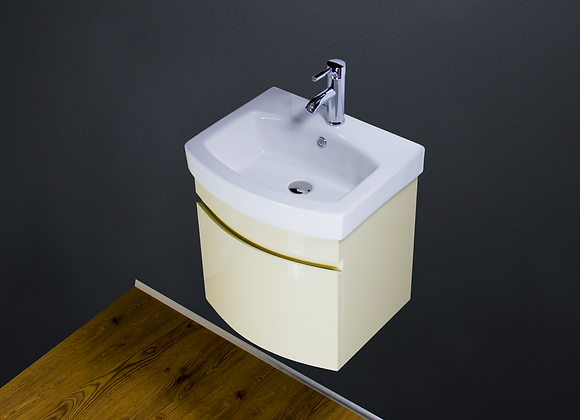 Vanity Unit Cabinet Basin Sink Bathroom Wall Hung Mounted Square