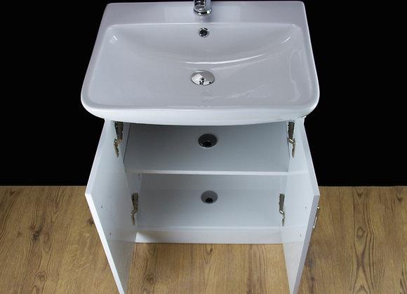 Vanity Unit Cabinet Basin Sink Ceramic Bathroom Floor standing Doors Tap Waste