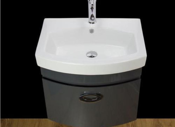 Vanity Unit Cabinet Basin Sink Bathroom Square Wall Hung Mounted Tap Waste