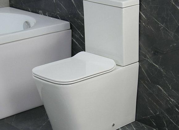 Toilet WC Close Coupled Soft Close Seat Rimless