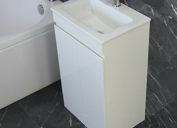 Vanity Cabinet Basin Sink Bathroom Cloakroom Tap Waste
