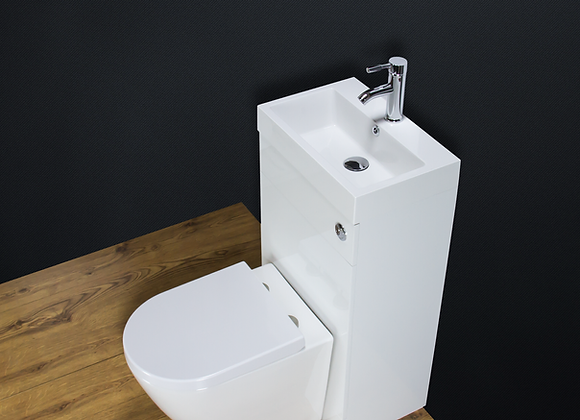 Toilet WC Back to Wall Bathroom Vanity Unit Cabinet Basin Sink