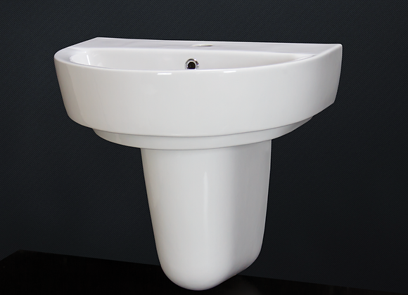 Wash Basin Sink Ceramic Round Pedestal