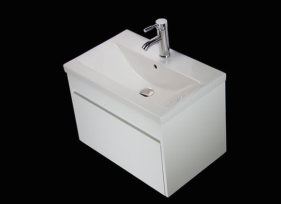 Vanity Unit Cabinet Basin Sink Wall Hung Mounted Bathroom Square Tap Waste