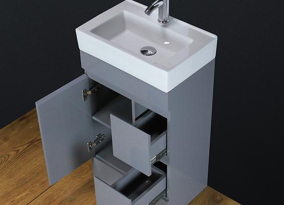 Vanity Unit Basin Sink Cabinet Floor standing Ceramic Tap Waste