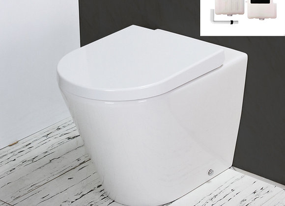 Toilet WC Back to Wall Concealed Cistern Round Bowl
