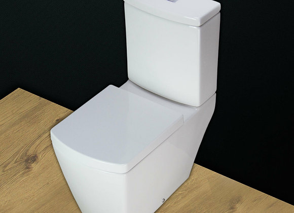 Toilet WC Close Coupled Square Style