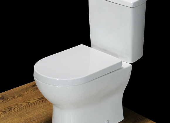 Toilet WC Close Coupled Cloakroom Soft Close Seat