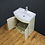 Thumbnail: Vanity Unit Cabinet Basin Sink Bathroom Floor mounted