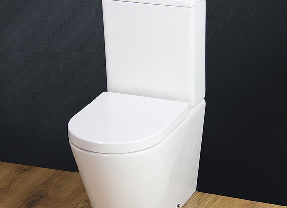 Toilet WC Close Coupled Cloakroom Compact Depth 630mm