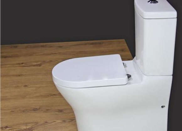 Toilet WC Close Coupled Soft Close Seat