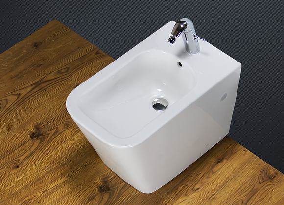Bidet Modern Back To Wall White Ceramic Floor Mounted Bathroom Cloakroom BT5