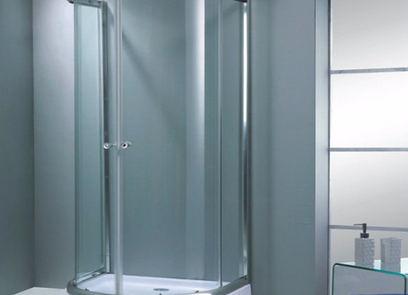 Shower Enclosure Walk in Sliding Doors and Tray