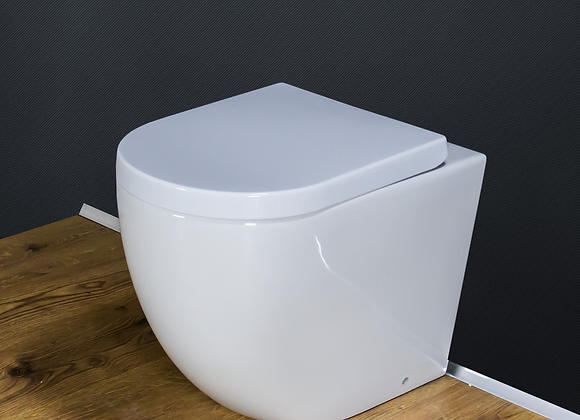 Toilet WC Back to Wall Rimless Bathroom