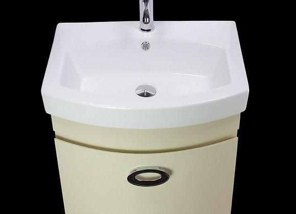Vanity Unit Cabinet Basin Sink Bathroom Wall Hung Mounted Tap Waste