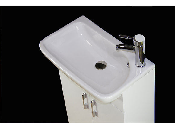 Vanity Unit Cabinet Basin Sink Bathroom Floor Mounted Tap Waste