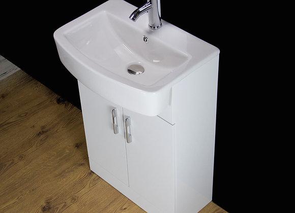 Vanity Unit Cabinet Basin Sink Bathroom Floor Mounted Square Ceramic