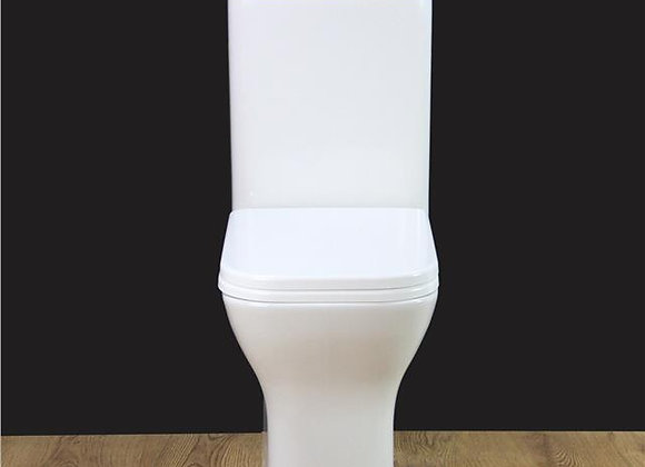 Toilet WC Close Coupled Square bowl Soft Close Seat