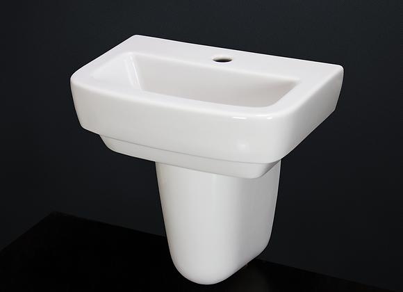Wash Basin Sink Ceramic Square Pedestal