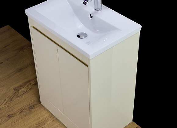 Vanity Cabinet Basin Sink Bathroom Floorstanding Doors Square Tap Waste