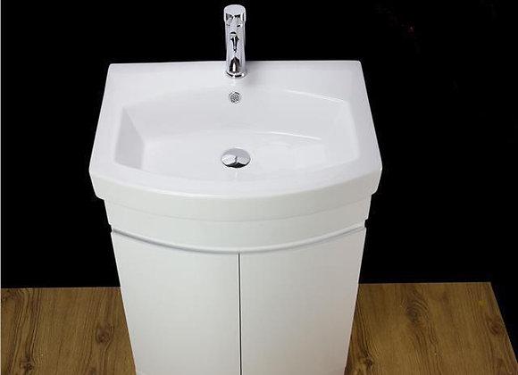Vanity Unit Cabinet Basin Sink Ceramic Bathroom Floor standing Doors 500MM