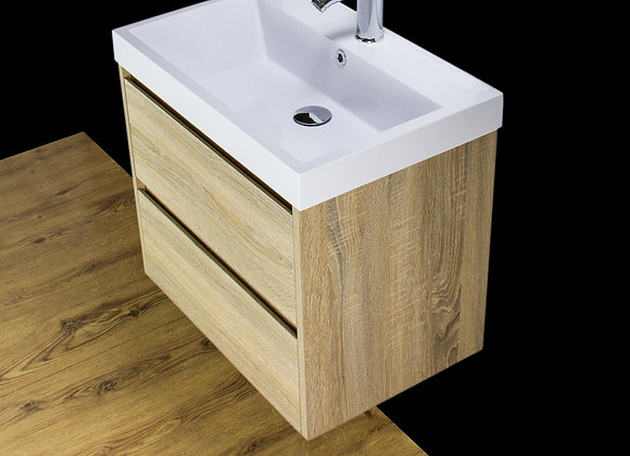 Vanity Unit Cabinet Basin Sink Wall mounted 600mm